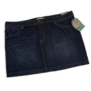 Route 66 Blue Denim  Classis Fit Mini Skirt